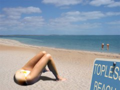 chronique, humour, bretagne, sud, languedoc, topless, plage